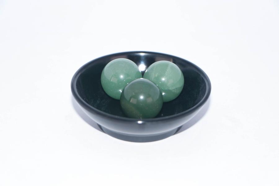 【3颗20mm绿色珠子+黑色托盘】通关必备家居时来运转摆件