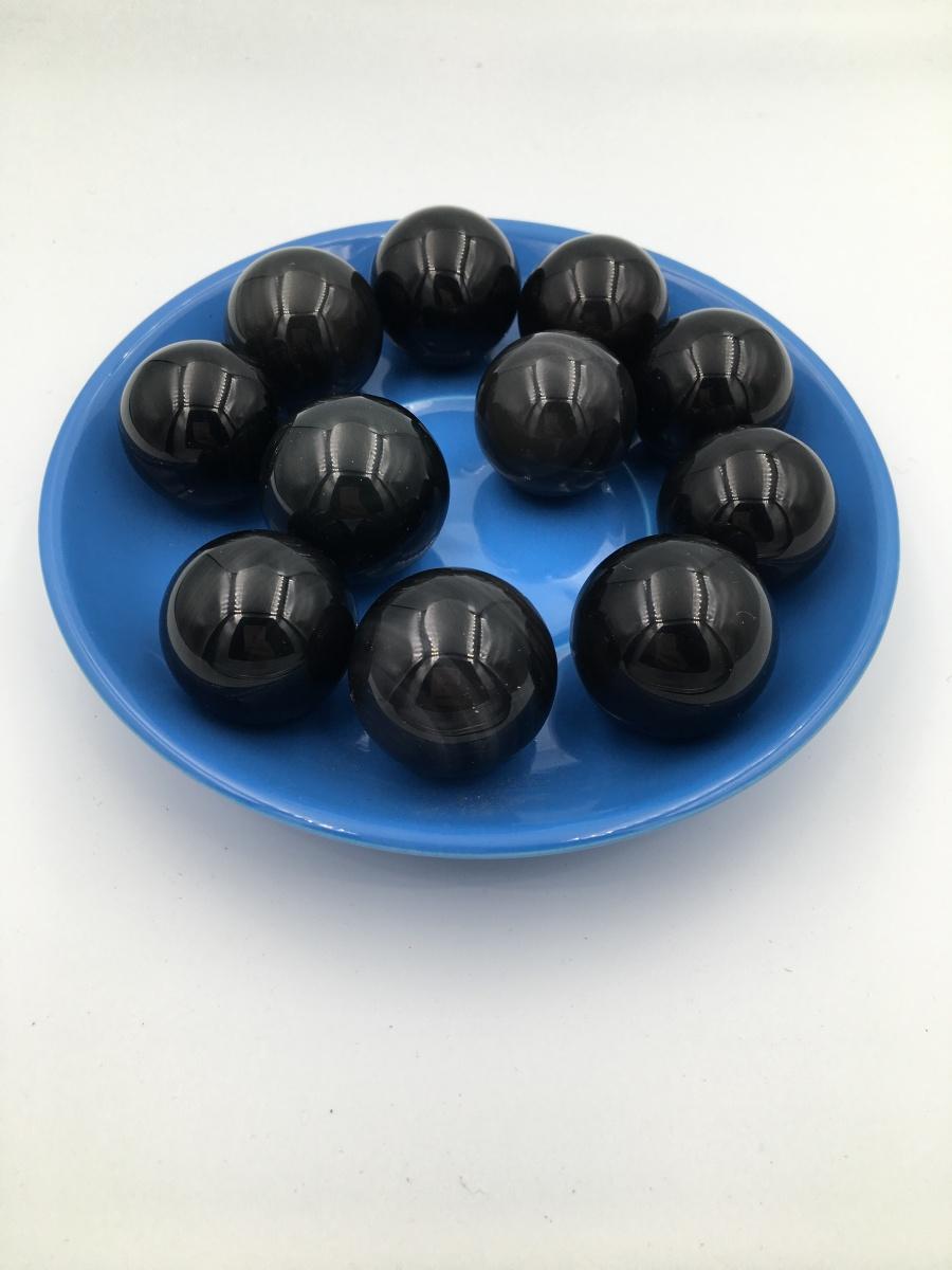 【11颗黑色珠子+蓝色托盘】