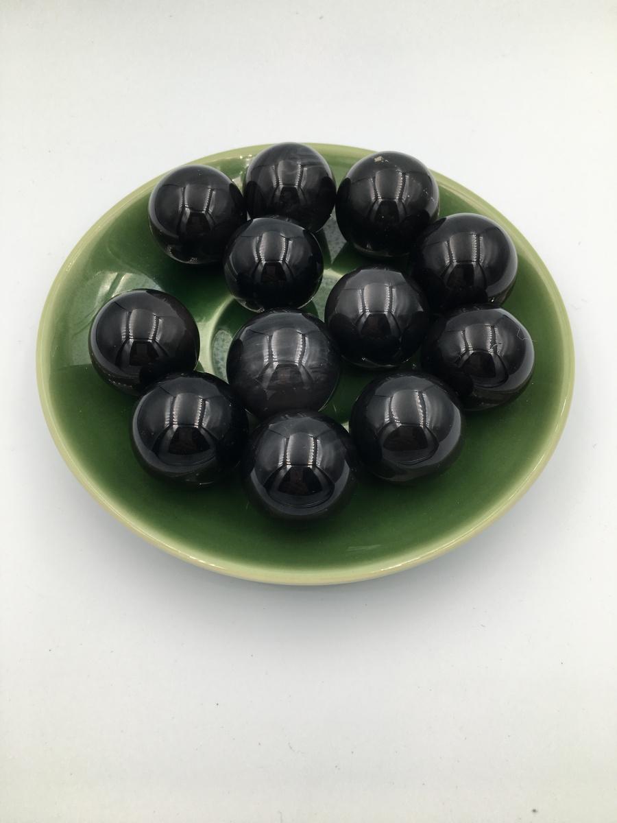 【12颗黑色珠子+绿色托盘】