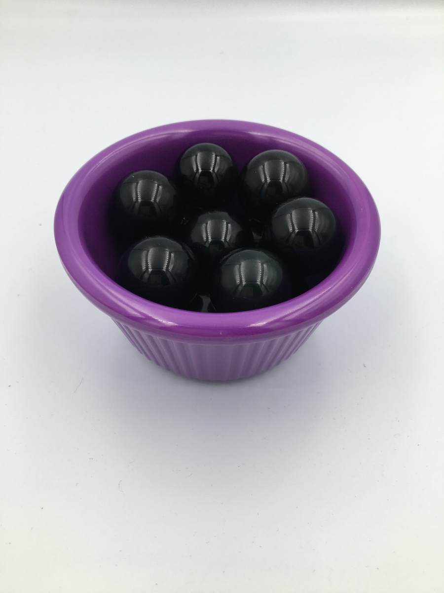 【12颗黑色珠子+紫色托盘】